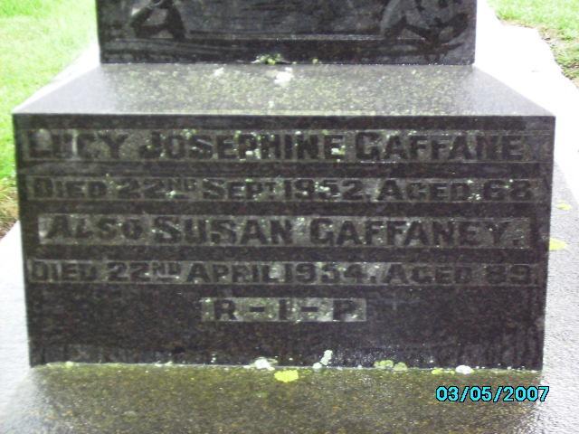Gaffaney family gravestone, Temuka Cemetery