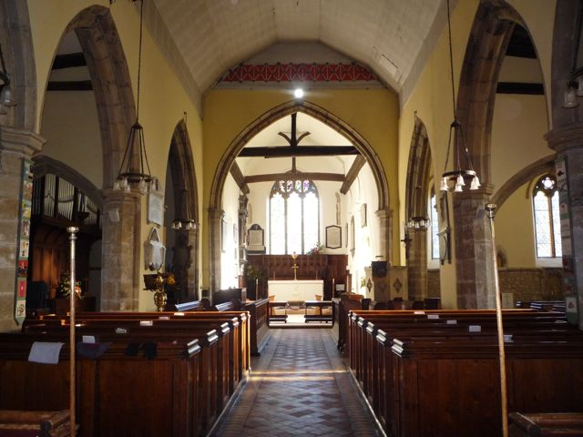 Interior, St Peter and Paul's Church, Yalding
