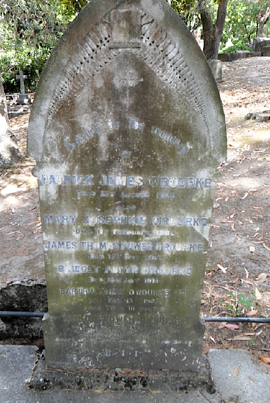 O'Rourke family burial plot, Napier Hill, Napier