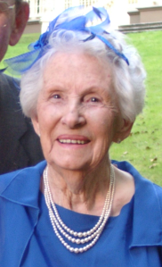 Jean on her wedding day, 2005 at age 90, Wellington, NZ