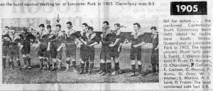 """1905"", Pictures from the past - 100 years of rugby in Canterbury, Weekend Star, June 9, 1979, p.29."