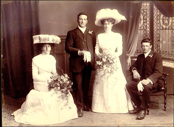 Peter Gaffaney and Margaret O'Rourke, Napier, NZ 1909