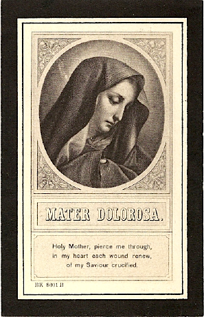Margaret Gaffaney, funeral card, 1927