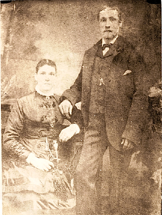 Mary Jane and Ephraim Wright (probably wedding photo, 1882)