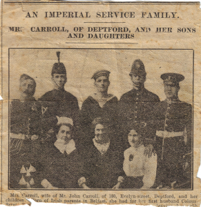 An Imperial Service Family (clipping from unknown publication)