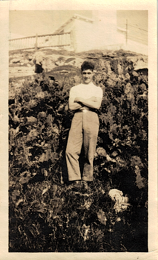 Percy Luxton, Bermuda, 1923 (photograph by Eileen Luxton, sent by Lavinia Luxton to Alexander Wright, NZ)
