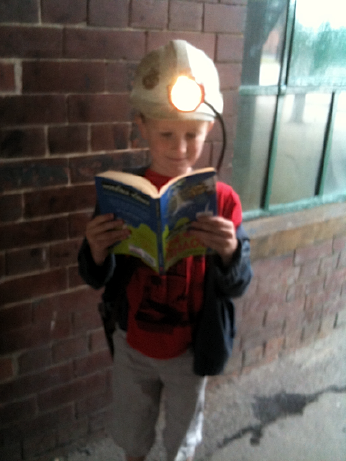 Young miner, extreme reader