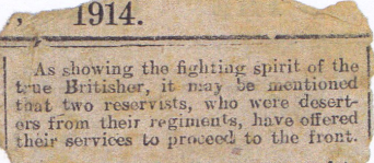 Clipping from unidentified publication, 1914