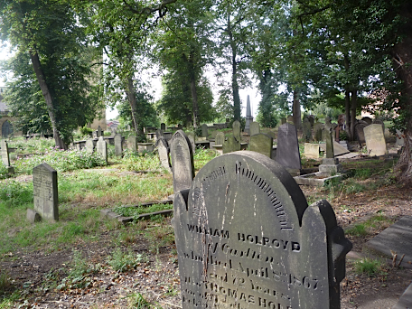 Graveyard, Holy Trinity Church, Rothwell, Yorkshire, August 2011