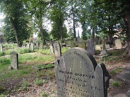 Graveyard, Holy Trinity Church, Rothwell, Yorkshire, August 2011