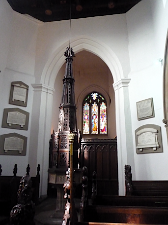 Holy Trinity, Rothwell - baptismal font, August 2011