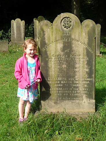 Gravestone of George & Elizabeth Kemp, also Thomas Kemp,  St John the Evangelist churchyard, Oulton, West Yorkshire
