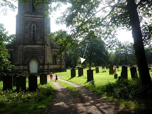 George and Elizabeth Kemp's gravestone, St John the Evangelist church, Oulton, West Yorkshire