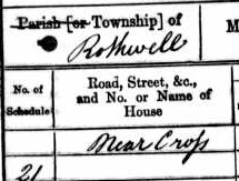 1861 England census, Rothwell - detail