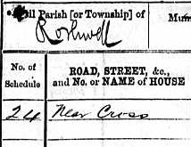 1871 England census, Rothwell - detail
