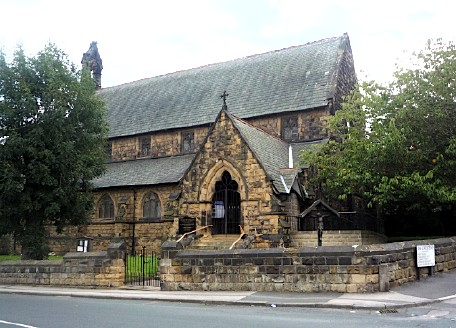 St Mary Magdalene, parish church of Altofts, in the diocese of Wakefield, Yorkshire - August 2011