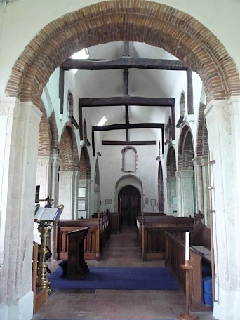 Interior of St Mary's church, Polstead, Suffok ~ August 2011