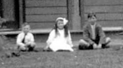 "Three children at ""Belper"", Arowhenua, South Canterbury, NZ"