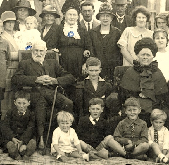 John and Hanorah Brosnahan (both seated)