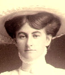 Margaret O'Rourke, on her wedding day in 1909, Napier, NZ