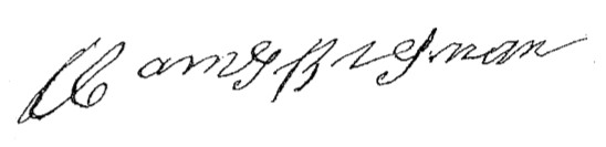 Signature of James Brosnan (1890)