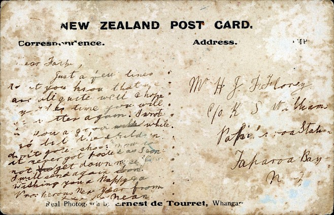 Postcard to H.J.F. Florey, date unknown