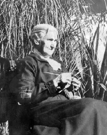 Woman knitting, New Zealand