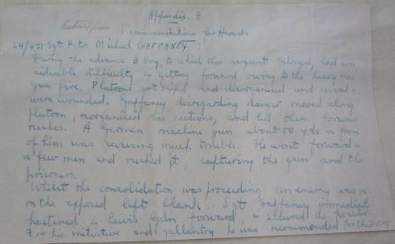 2nd Battalion NZRB, War Diary March 1918 APPENDIX B