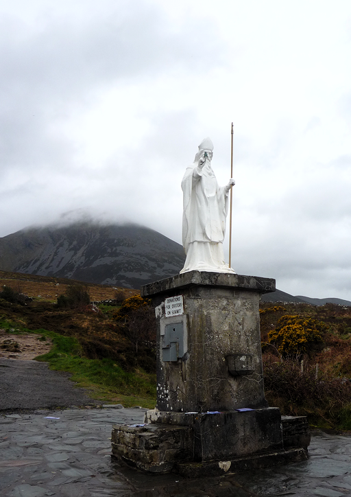 At the foot of Croagh Patrick, 17 March 2012