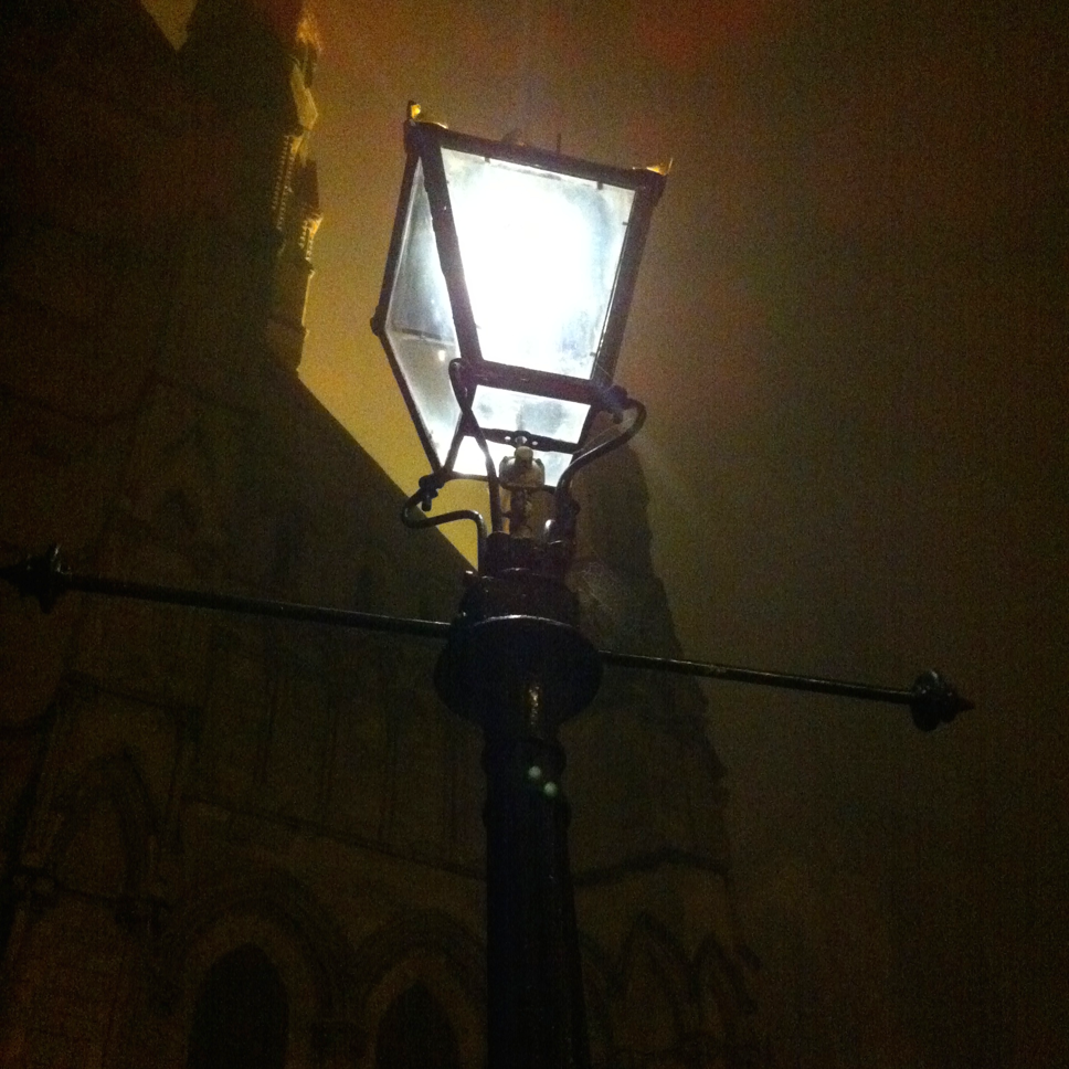 On the ghost tour, in foggy York