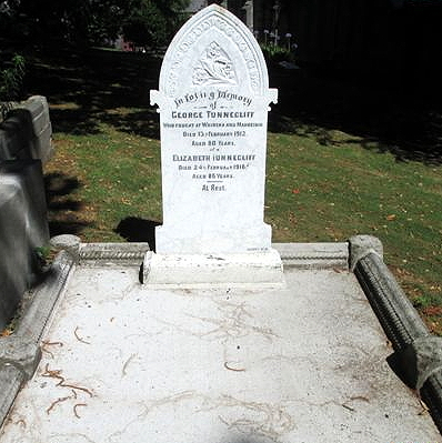 George & Elizabeth Tunnecliff's grave, repaired (Image: John Pickering, 2015)
