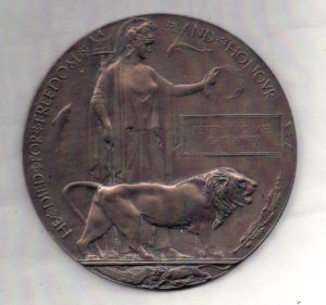 Memorial plaque, Peter Michael Gaffaney, died 1918 in France.