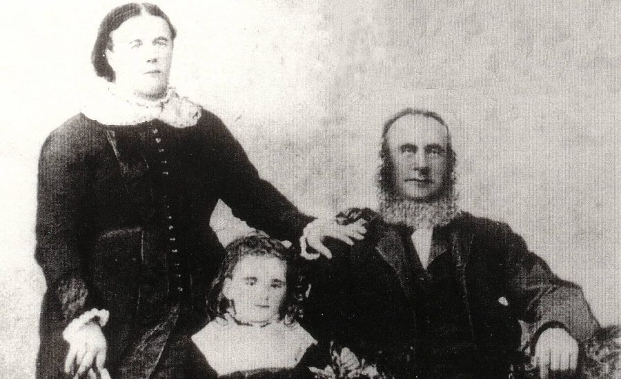 Ann Philp and Martin Burke, with their daughter Annie Burke