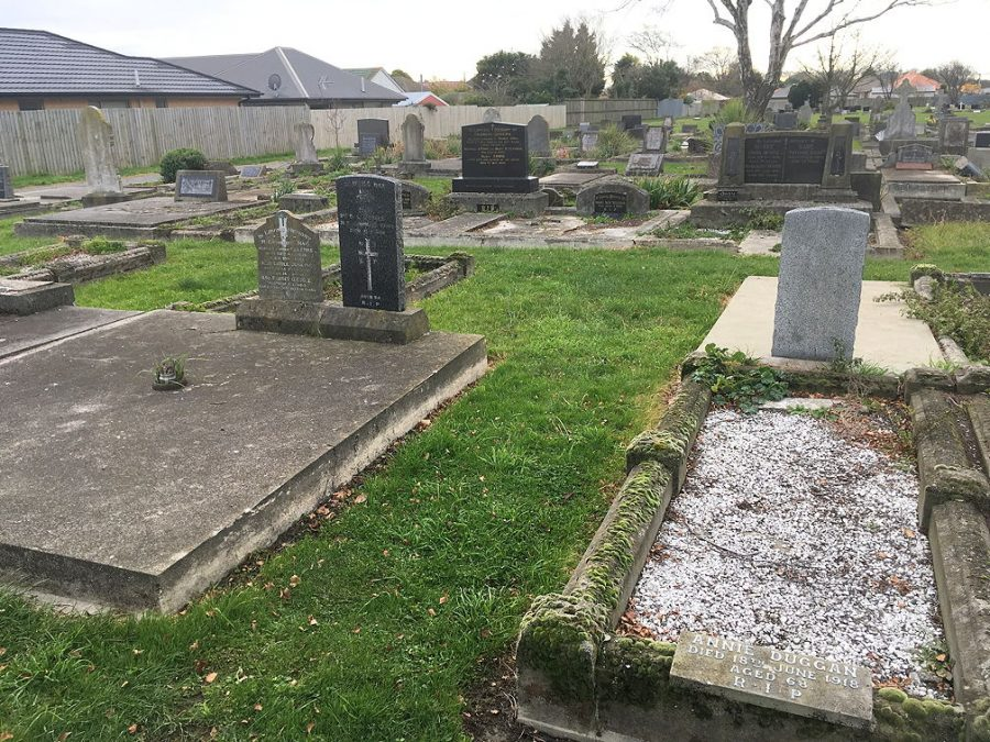 Burial site of Martin Burke, Sydenham Cemetery, Christchurch, NZ. [Block 22B, plot 63]