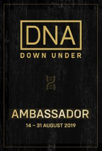 Ambassador for DNA Down Under 14 to 31 August 2019