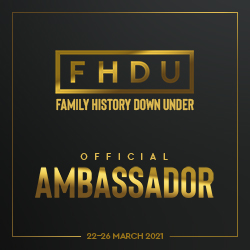 Ambassador for Family History Down Under March 2021