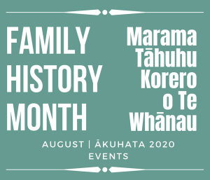 Family History Month August 2020 Evens Calendar