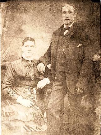 Mary Jane and Ephraim Wright (probably wedding photo, 1882)