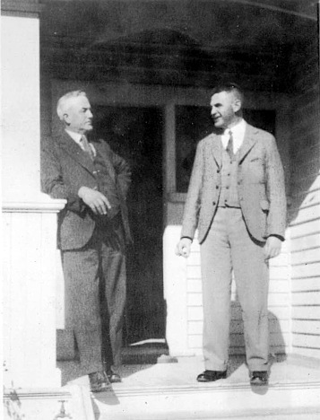 My grandfather Michael Dominic Gaffaney (right), with his father Peter in Hastings, NZ 1936