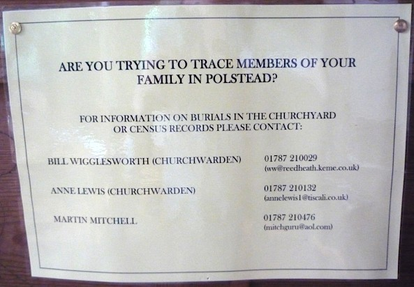 Are you trying to trace members of your family in Polstead?