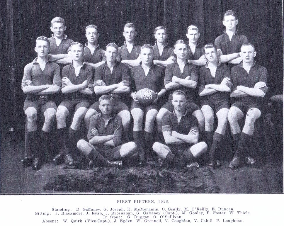 1928 First XV, St Bede's College, Christchurch, NZ