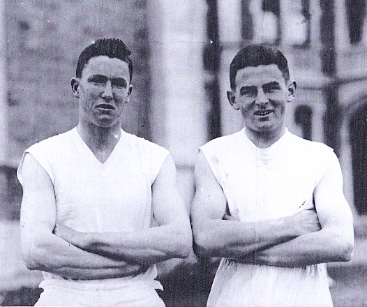 James Brosnahan of Morvern and (Michael) Dominic Gaffaney of Waimate - St Bede's College Athletic Sports 1928, Christchurch, NZ