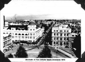 Worcester Street, from Cathedral Square, Christchurch, 7875