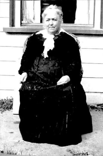 Woman in black, Napier, New Zealand