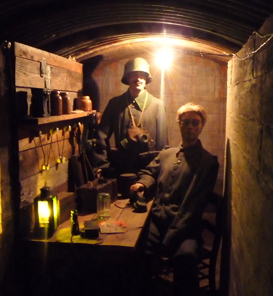 Replica of a command post in the tunnels - Memorial Museum Passchendaele 1917