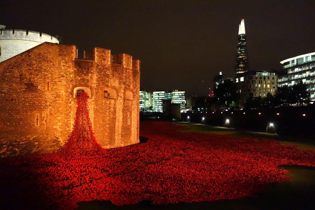Tower of London poppies ~ 25 Sep 2014