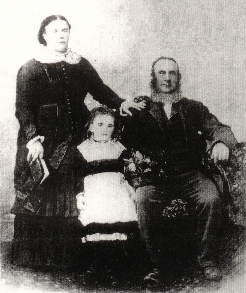 Martin Burke and Ann Philip with their daughter