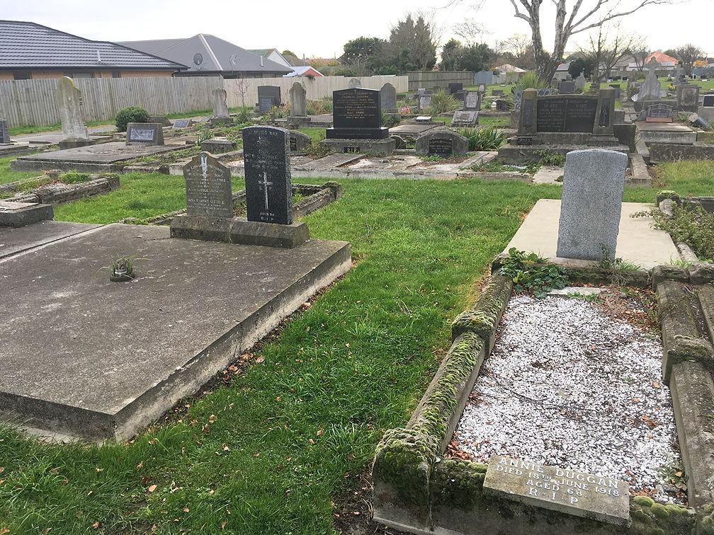 Burial site of Martin Burke, Sydenham Cemetery, Christchurch, NZ. [Block 22B, plot 63]