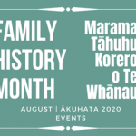 Family History Month ~ August 2020 Events Calendar