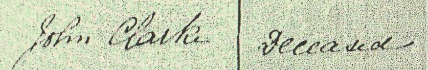 Detail from marriage certificate, Ephraim Wright and Mary Jane Freeth, 13 March 1882